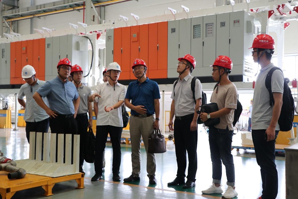 陈伟才副总裁带队赴中建隧道装备制造有限公司参观交流